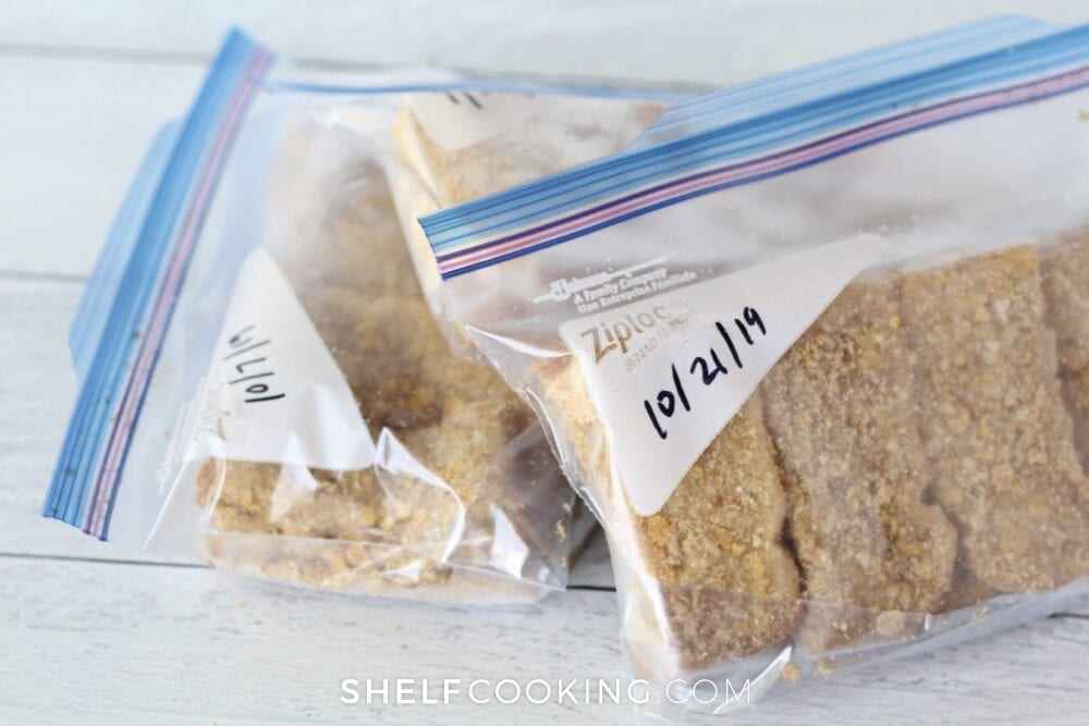 Crunchy French toast sticks in a freezer bag, from Shelf Cooking