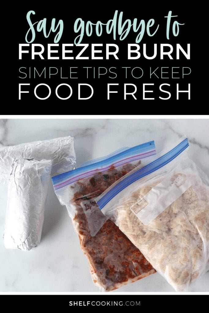 Frozen foods wrapped in freezer-safe supplies, from Shelf Cooking