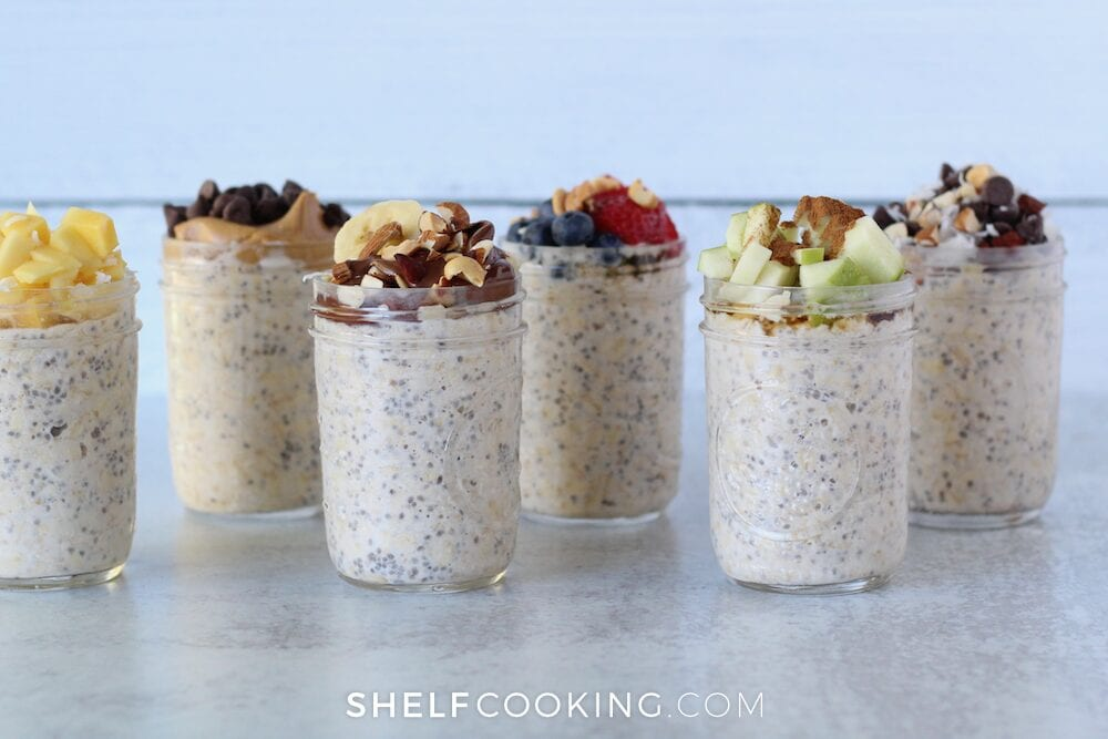 Overnight oats in a jar, from Shelf Cooking