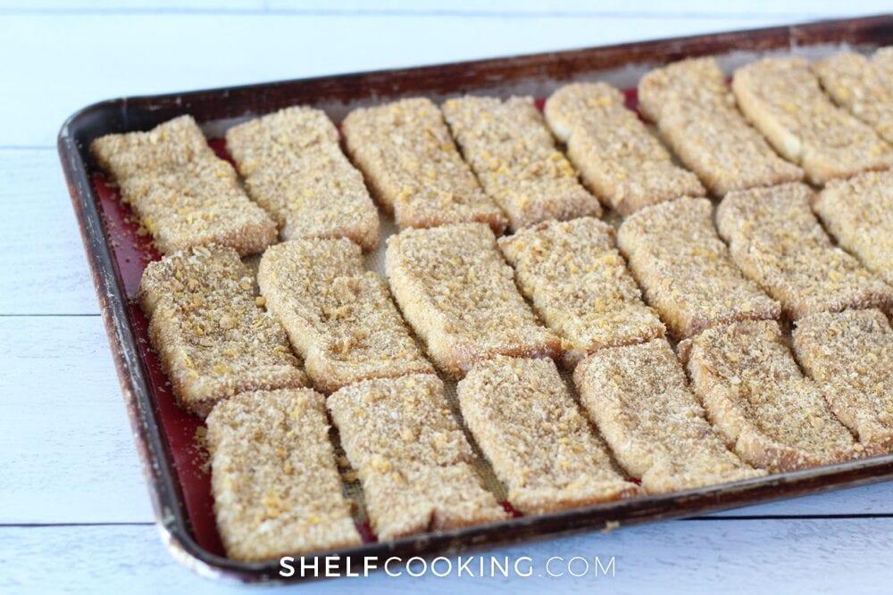 make-ahead breakfast on a baking sheet, from Shelf Cooking