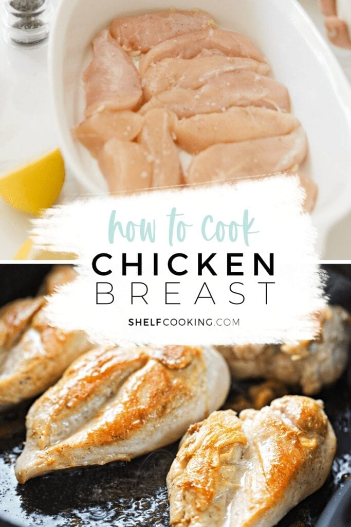 "Image with text that reads ""how to cook chicken breast"" from Shelf Cooking"