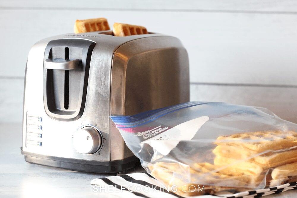 Toaster reheating frozen breakfast, from Shelf Cooking