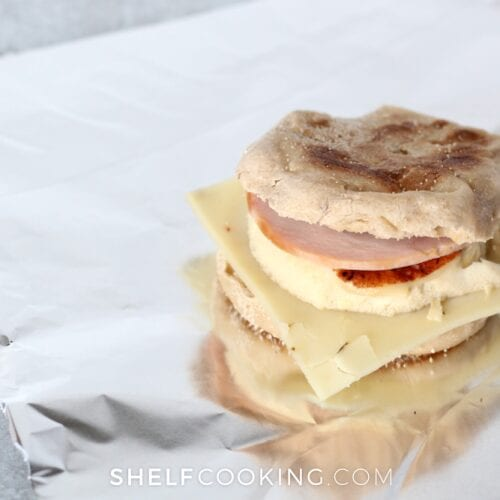 Make a double batch of egg sandwiches and freeze for later - Tips from ShelfCooking.com