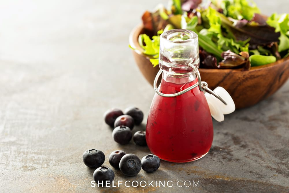Blueberry makes a great vinaigrette flavor - Tips from ShelfCooking.com