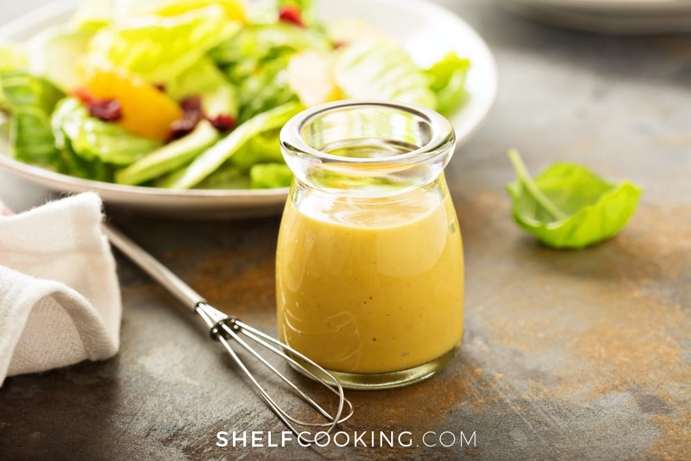 Use a cup and whisk to mix your dressing - Tips from ShelfCooking.com
