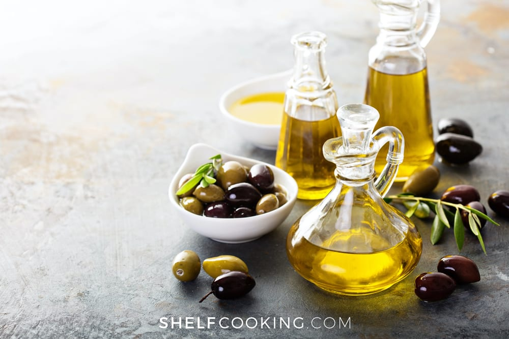 Oils on a counter, from ShelfCooking.com