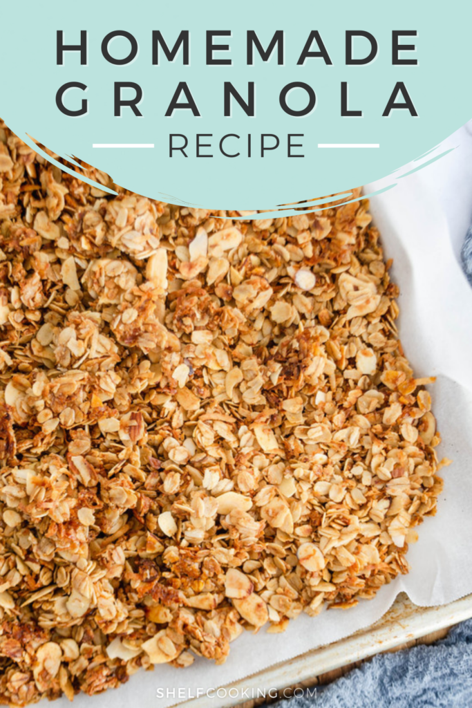 Homemade granola in a pan, from Shelf Cooking