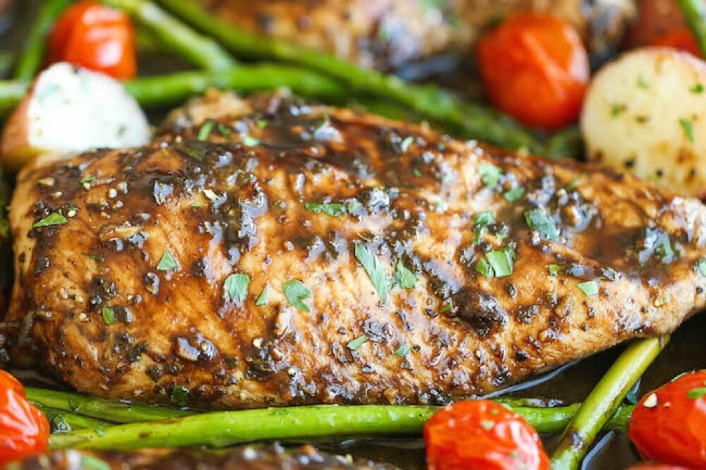 Damn Delicious honey balsamic chicken breast from Shelf Cooking