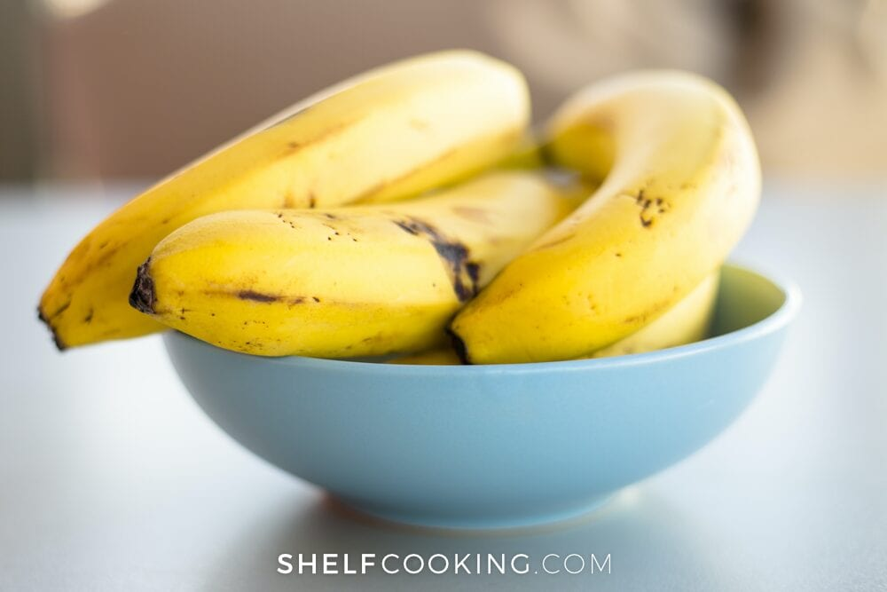 bananas in a bowl, from Shelf Cooking