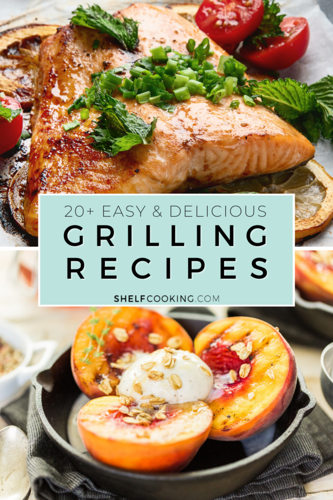 grilled fish and peaches, from Shelf Cooking