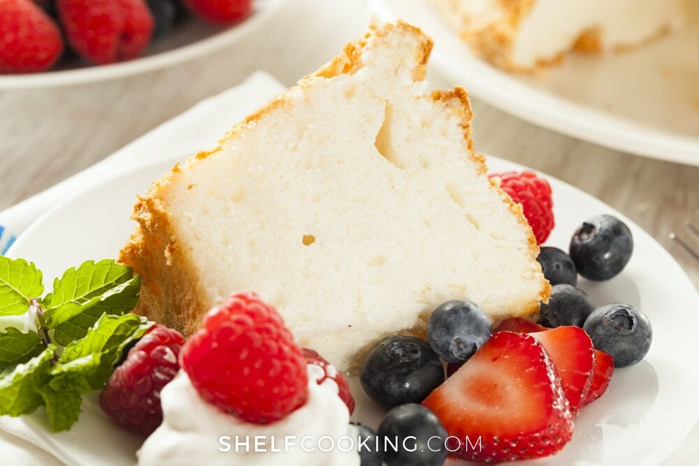 angel food cake summer dessert with berries, from Shelf Cooking