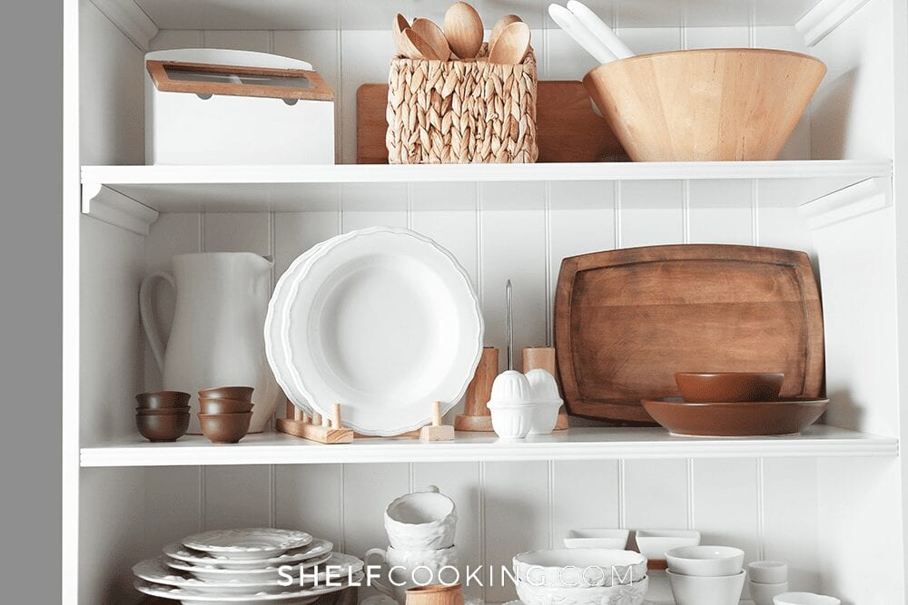 Organized items on a shelf, from Shelf Cooking
