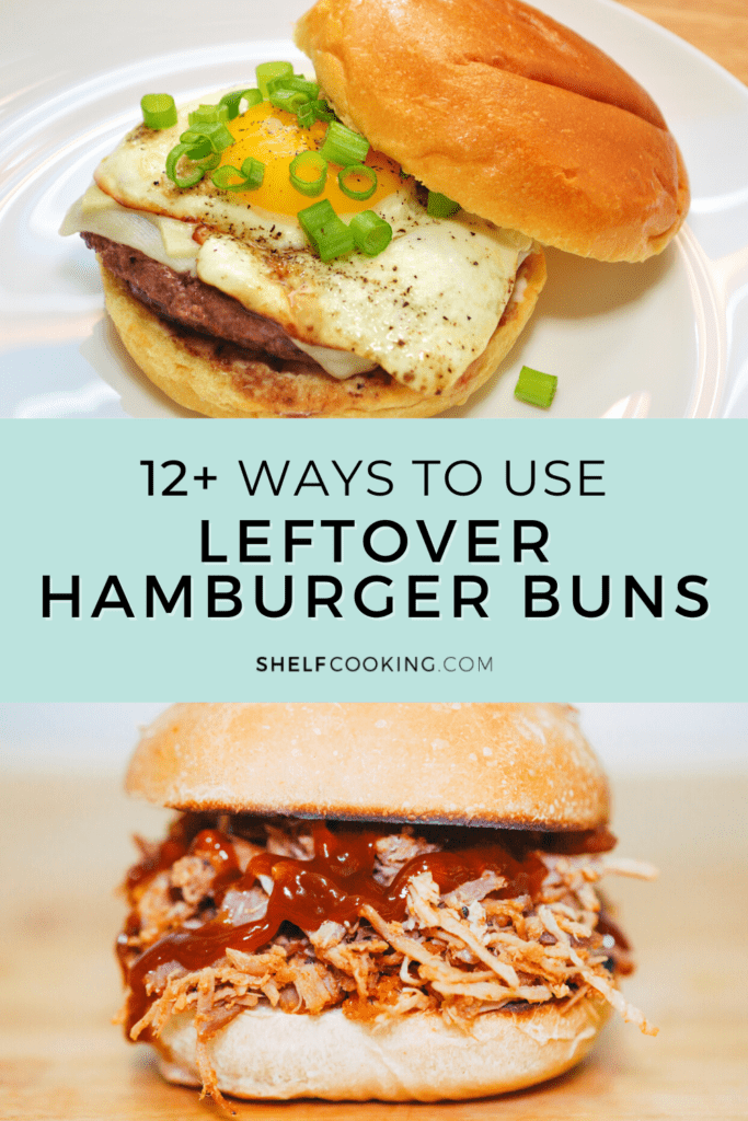 Recipes using leftover hamburger buns, from Shelf Cooking