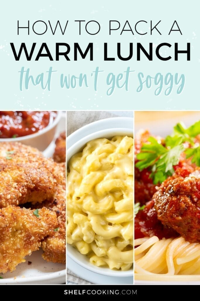 Various warm lunch ideas from Shelf Cooking