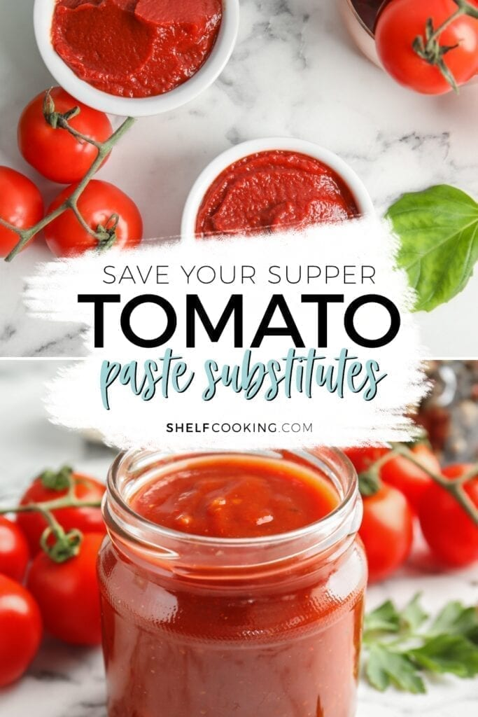 Tomato paste substitute in a jar, from Shelf Cooking