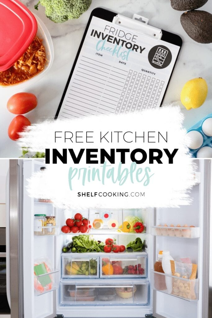 Open refrigerator and printable on a counter, from Shelf Cooking
