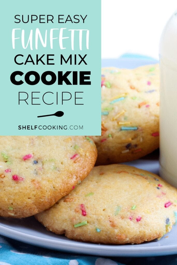 Close up of cake mix cookies from Shelf Cooking