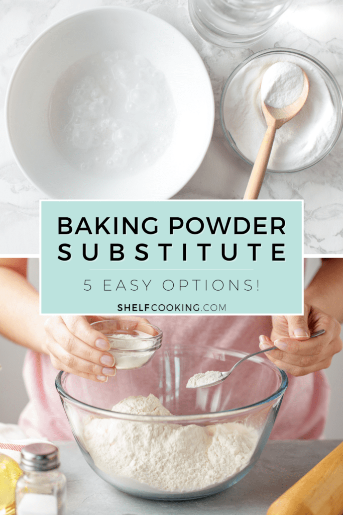 baking powder substitute in a bowl, from Shelf Cooking