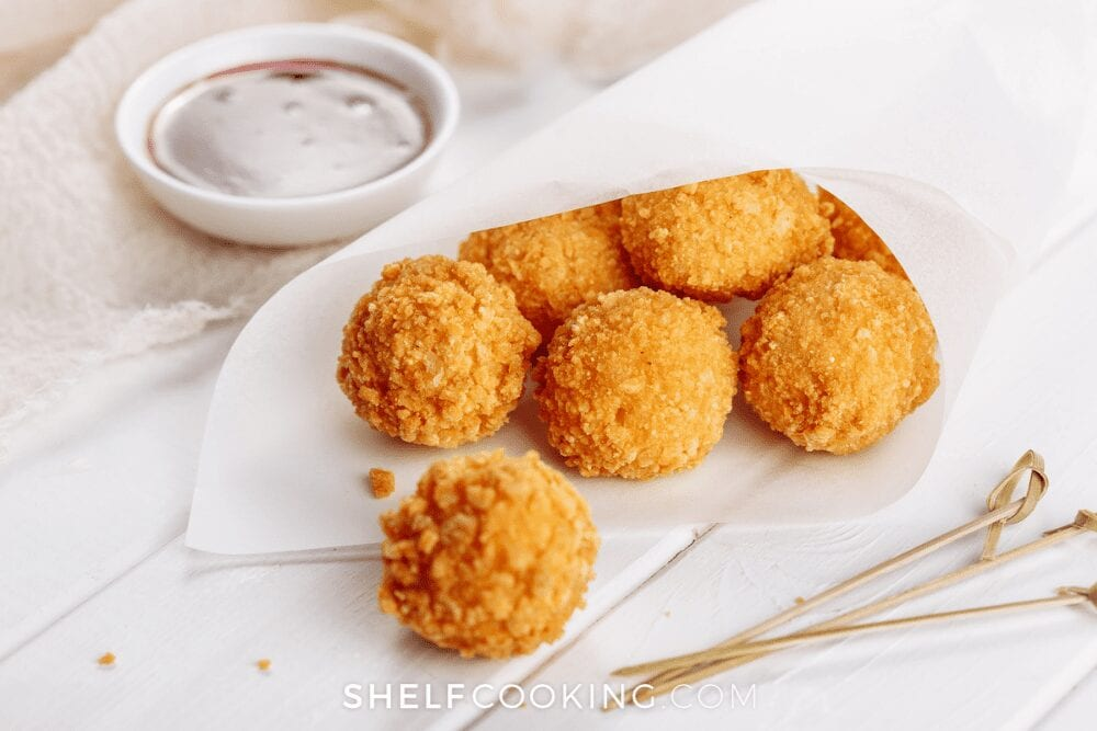 fried mac and cheese balls, from Shelf Cooking