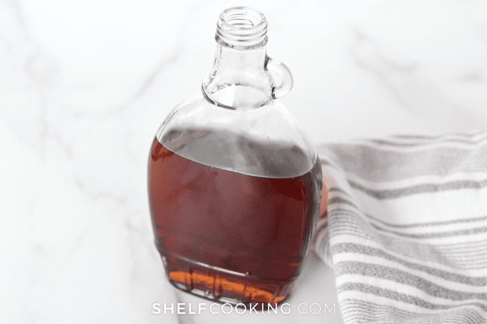 jar of maple syrup as substitute for vanilla extract from Shelf Cooking