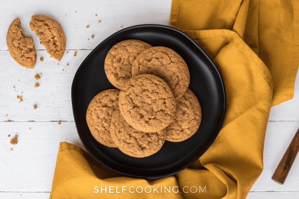 a plate of pumpkin cookies, from Shelf Cooking