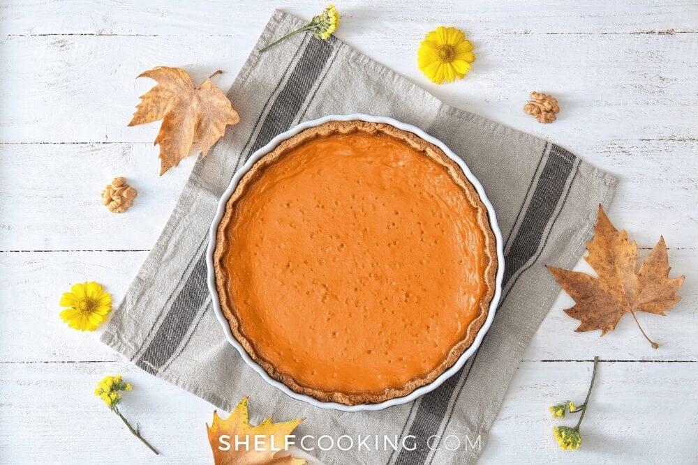 pumpkin pie, from Shelf Cooking
