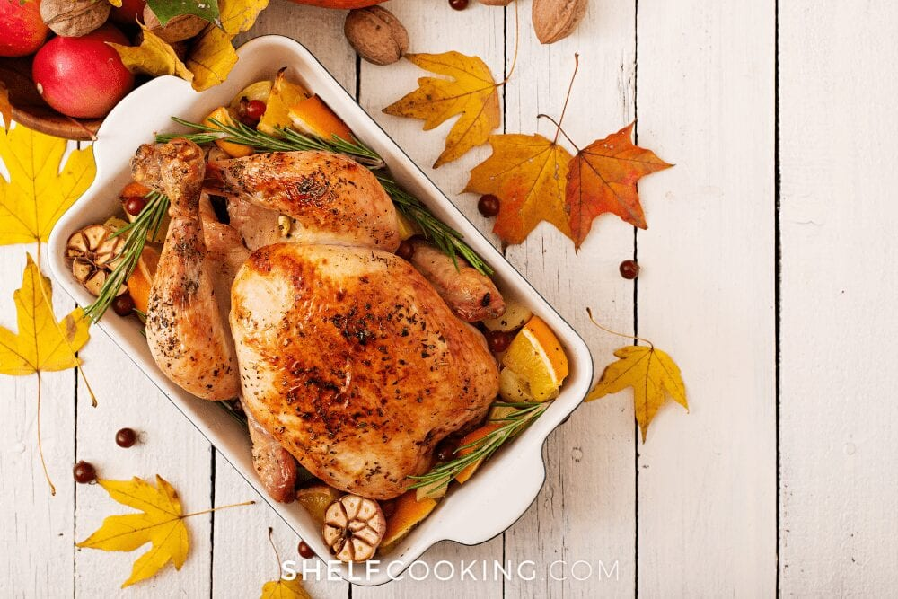 a Thanksgiving turkey, from Shelf Cooking