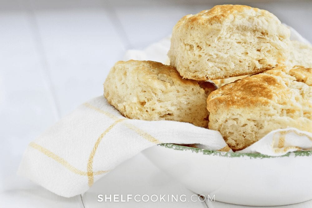 bowl of buttermilk biscuits, from Shelf Cooking