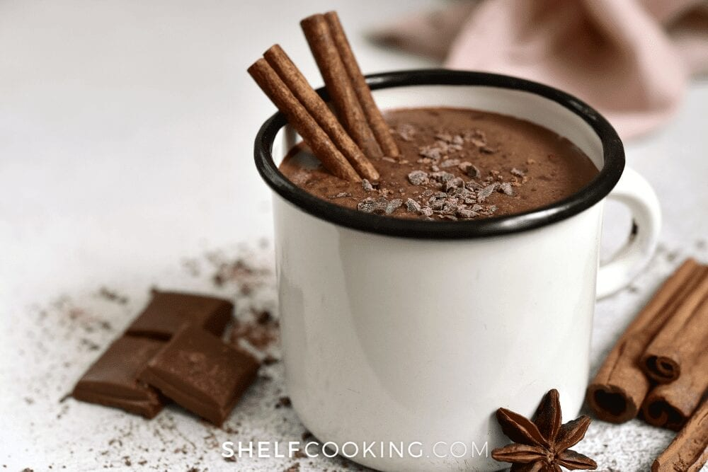 cup of hot cocoa, from Shelf Cooking