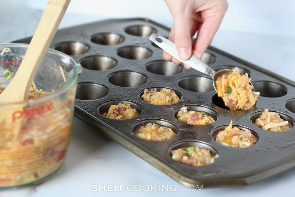 batch cooking egg muffin cups, from Shelf Cooking