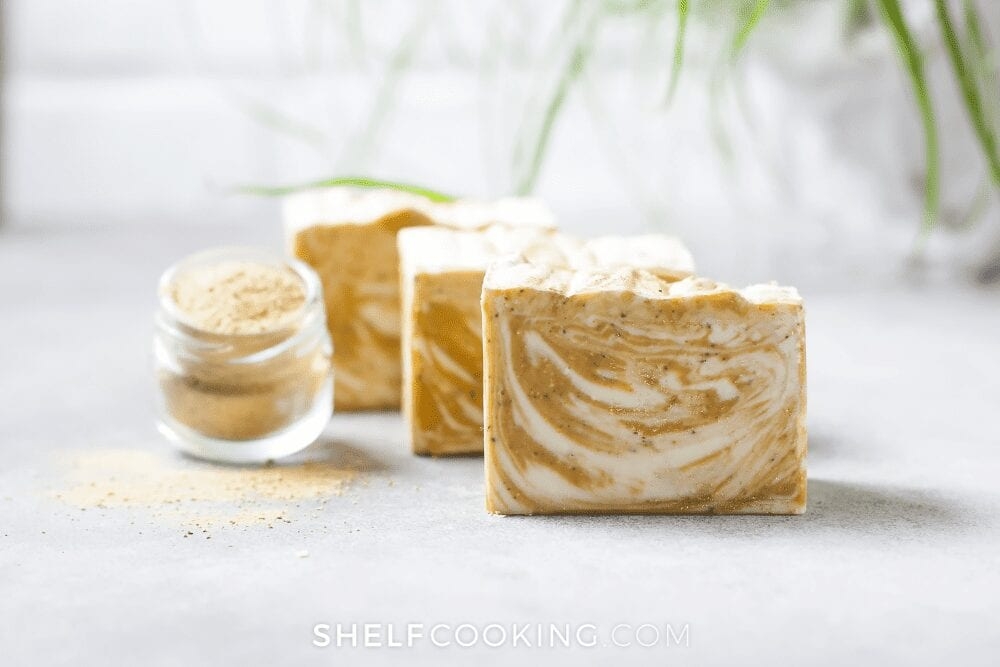 homemade oatmeal soaps, from Shelf Cooking