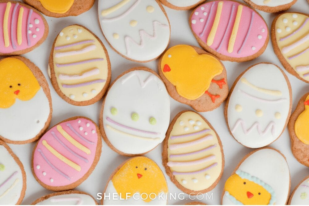 Easter egg sugar cookies, from Shelf Cooking