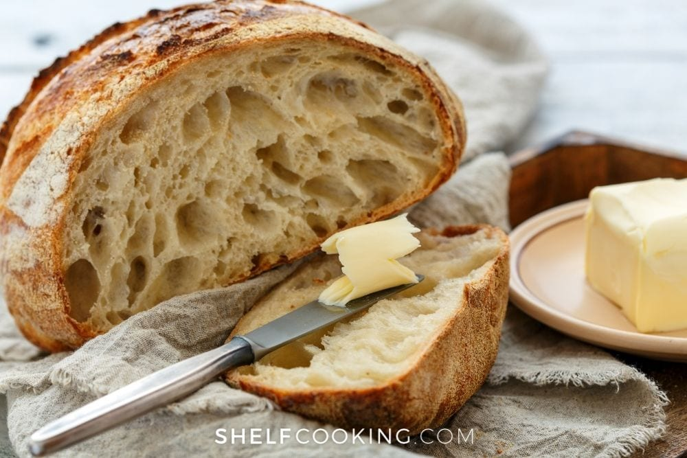 homemade bread and butter, from Shelf Cooking
