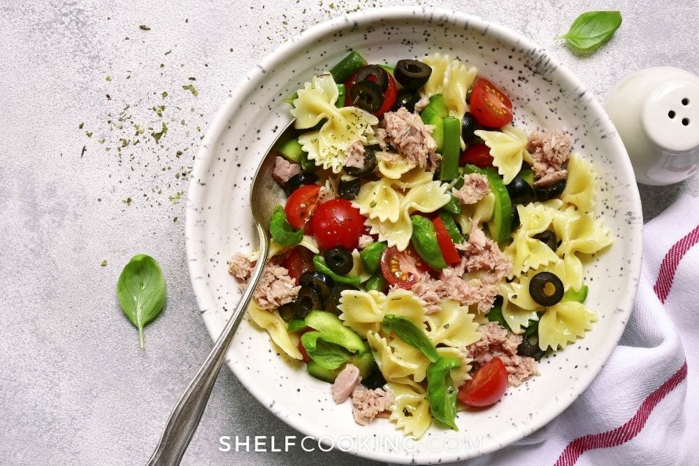 tuna pasta salad, from Shelf Cooking