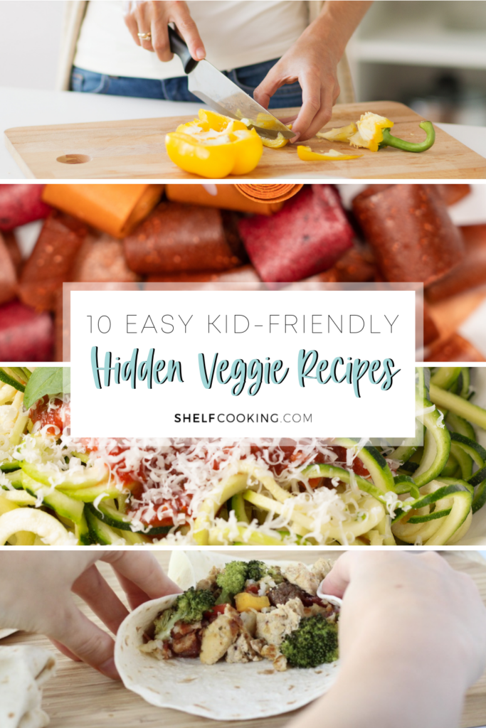 learn how to hide veggies with these kid-friendly recipes, from Shelf Cooking