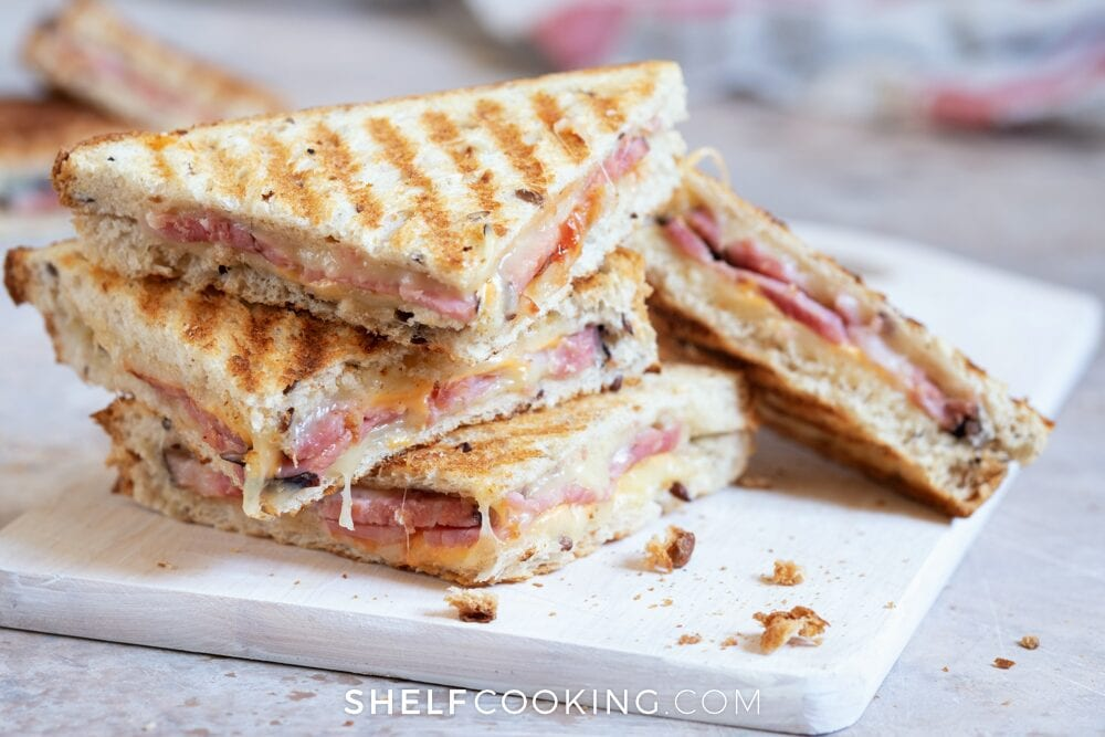 leftover ham and cheese panini, from Shelf Cooking