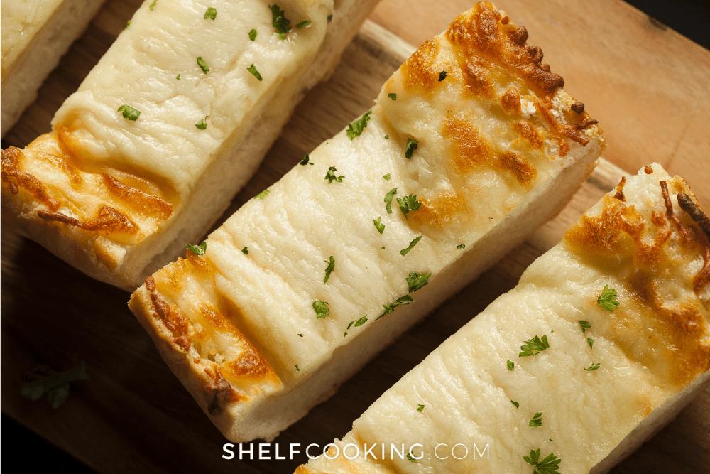 cheesy garlic bread, from Shelf Cooking