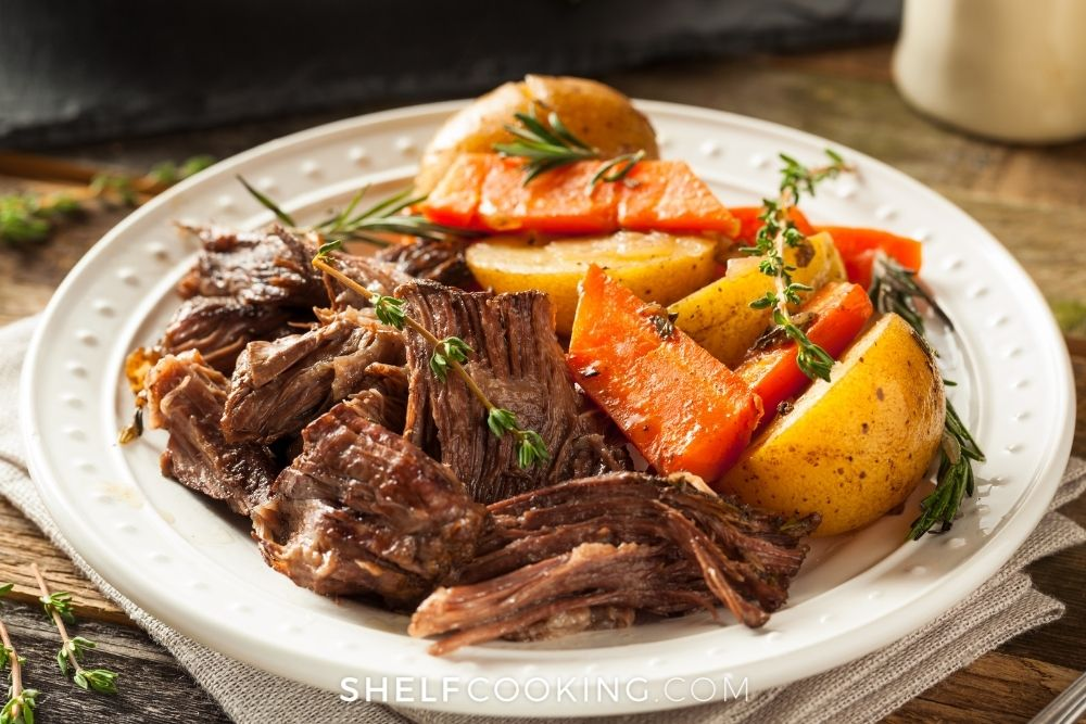 simple beef pot roast, from Shelf Cooking