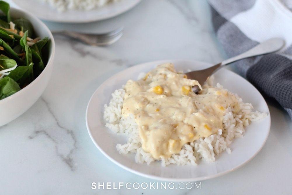cream cheese chicken, from Shelf Cooking