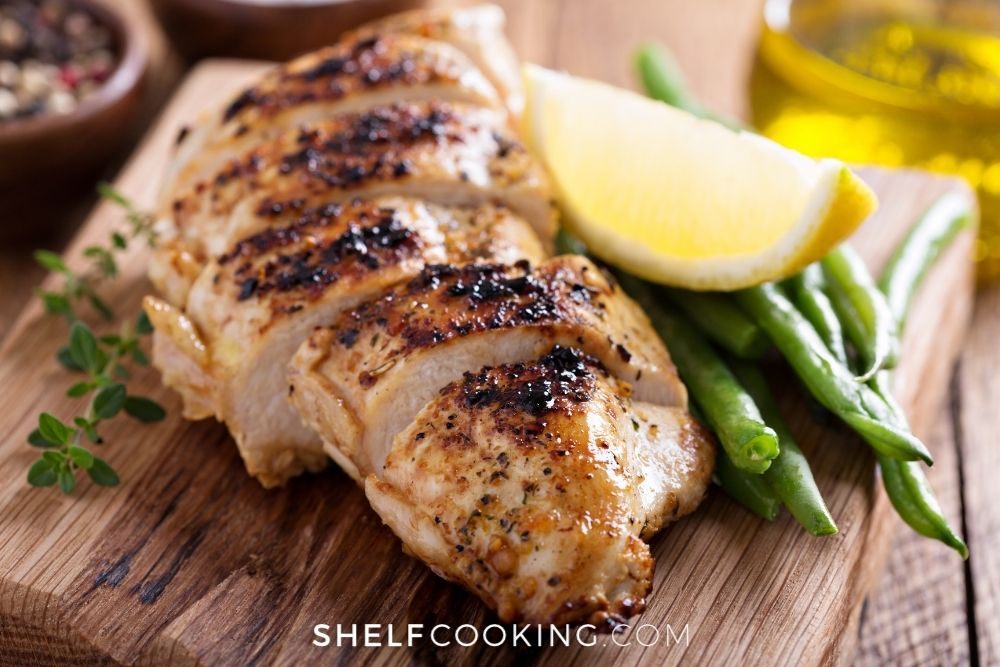 2-ingredient citrus grilled chicken, from Shelf Cooking