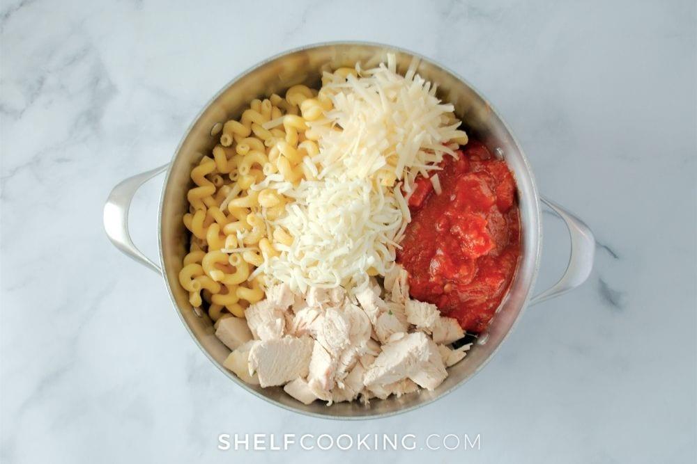 chicken parmesan casserole ingredients, from Shelf Cooking