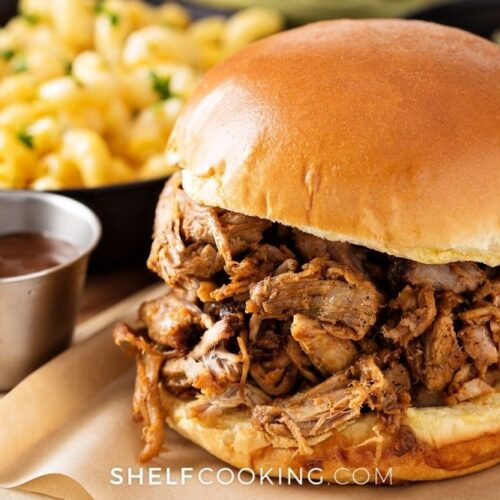 barbecue chicken sandwich, from Shelf Cooking