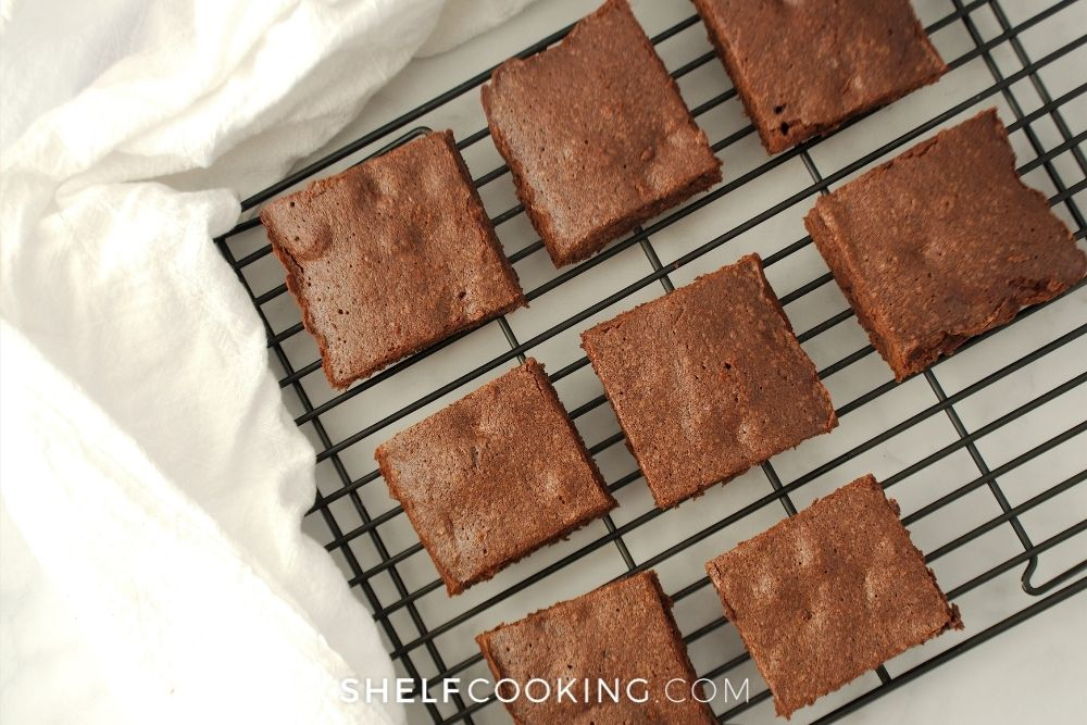 brownies cooling on a wire rack, from Shelf Cooking