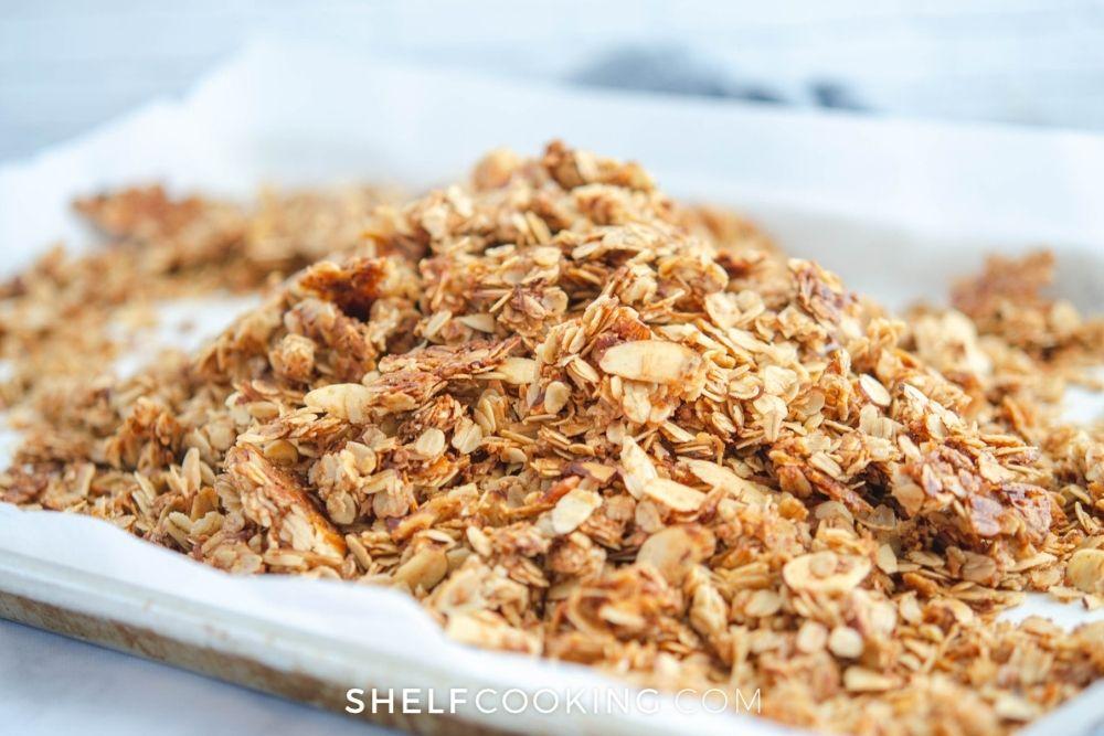 big batch of fresh granola, from Shelf Cooking