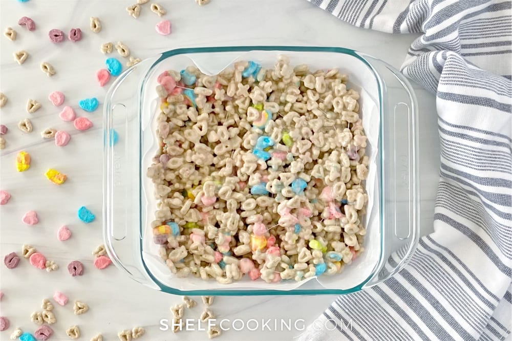 Dessert bars in a dish, from Shelf Cooking