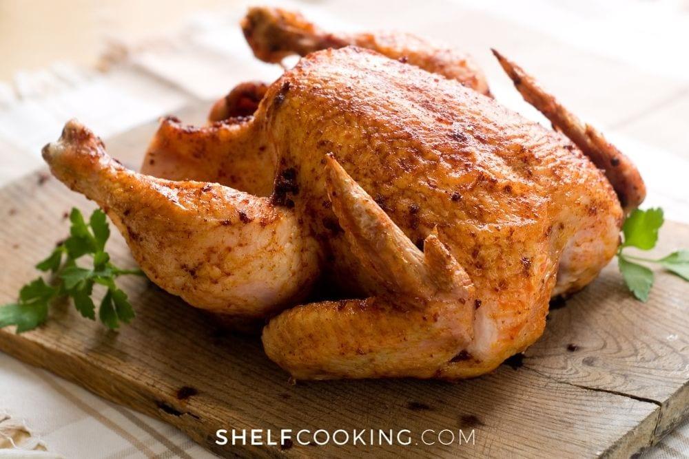 fresh rotisserie chicken, from Shelf Cooking