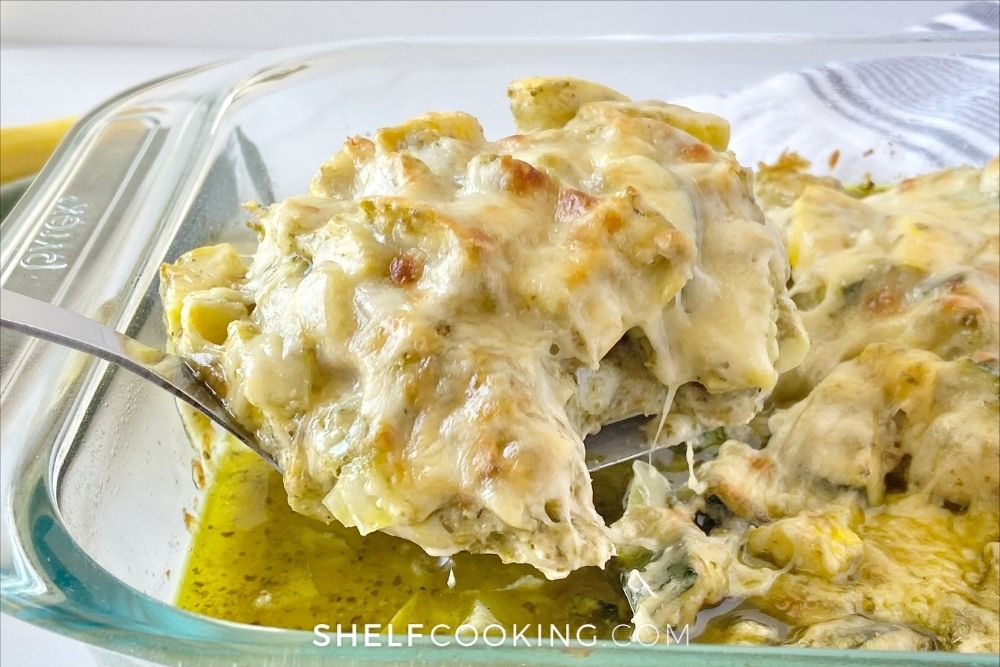 baked chicken and zucchini casserole, from Shelf Cooking