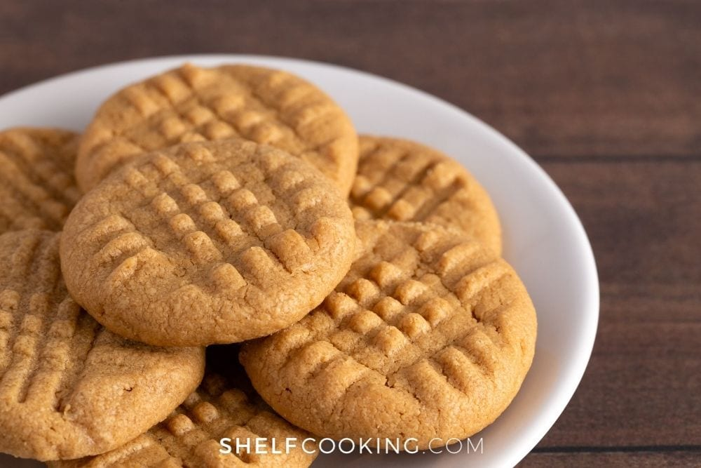 3-ingredient peanut butter cookies, from Shelf Cooking