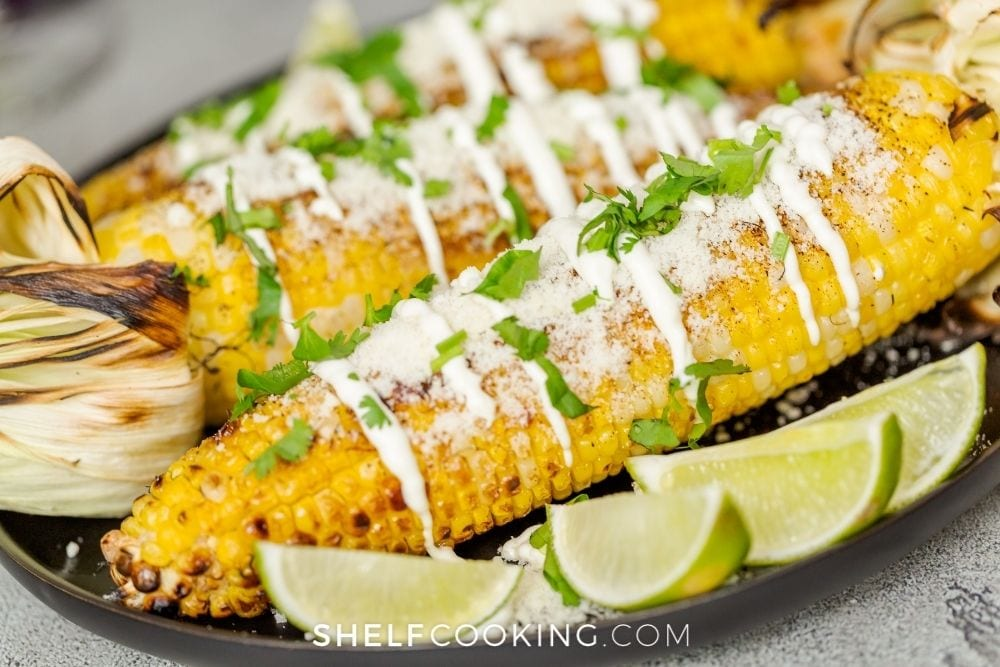 grilled Mexican street corn, from Shelf Cooking