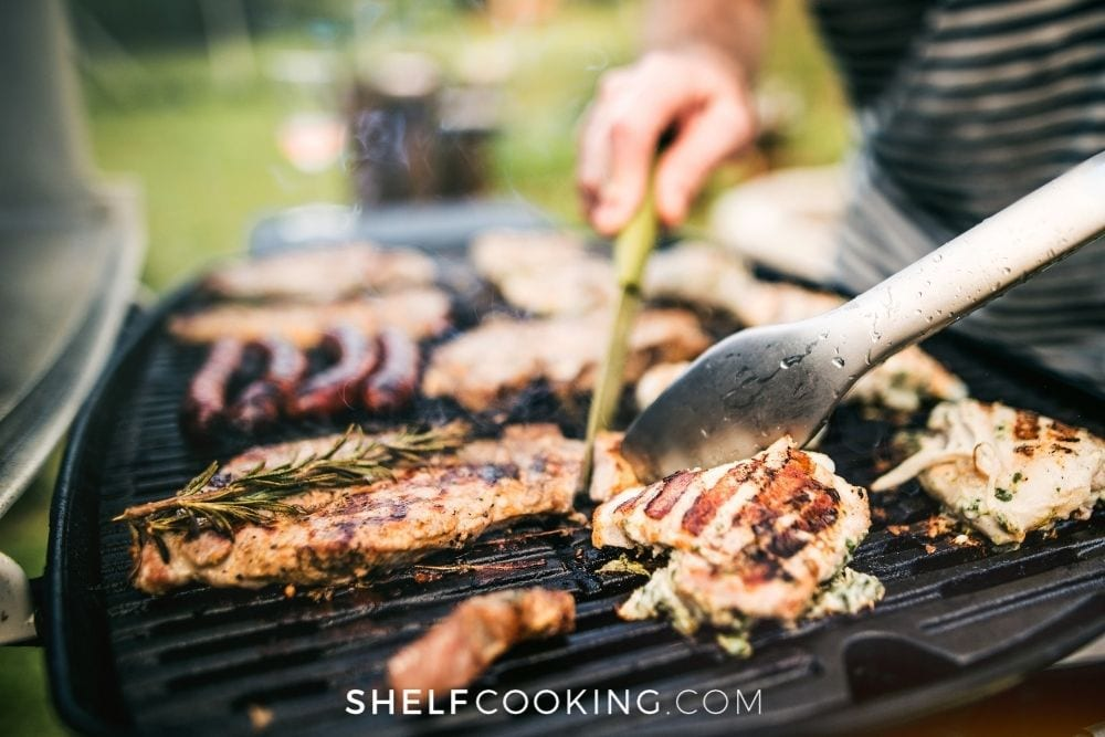 grilling chicken and meats, from Shelf Cooking